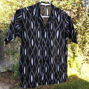 Camp collar Perry Ellis shirt